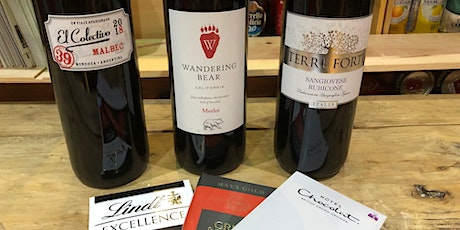Wine and chocolate tasting evening tickets