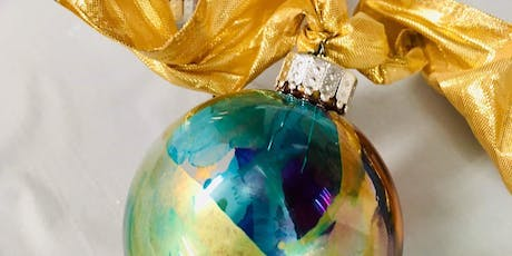 Wine & Art Wednesday: Alcohol Ink Ornaments tickets