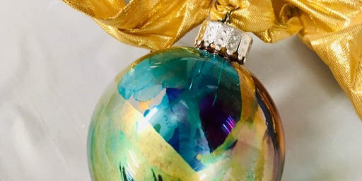Wine & Art Wednesday: Alcohol Ink Ornaments