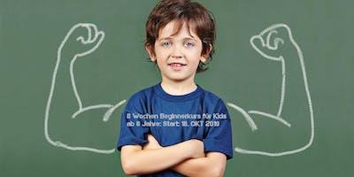 Beginnerkurs 8 Wochen Selbstverteidigung für Kinder