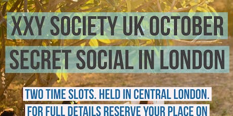 XXY / KS Society London Secret Autumn Social tickets