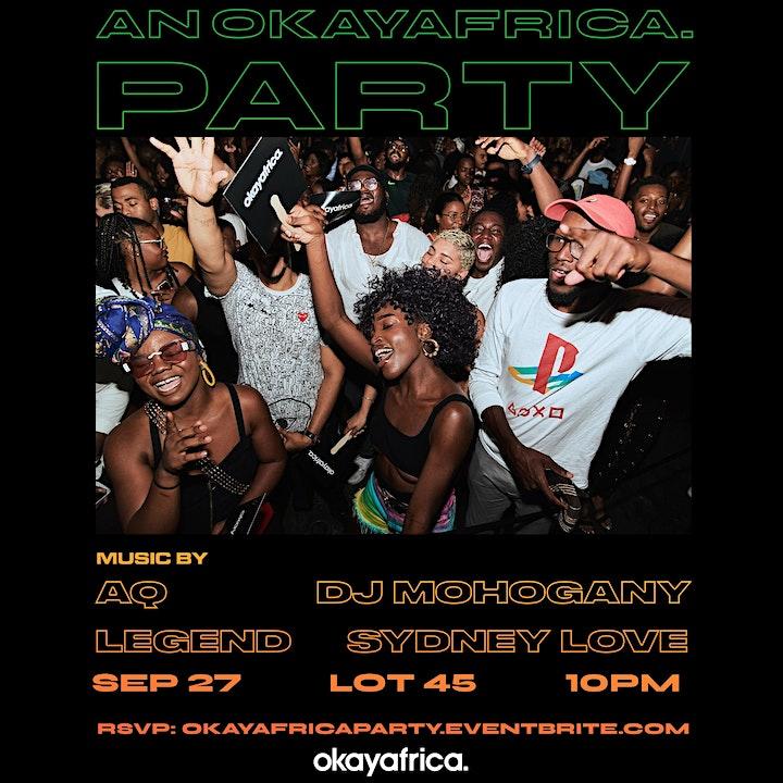 An OKAYAFRICA Party image