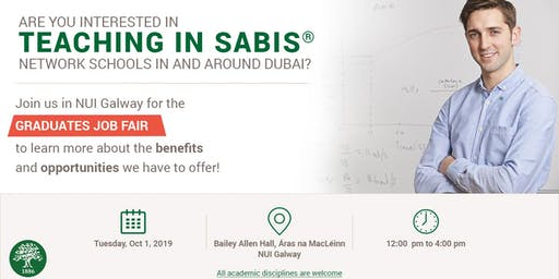 Visit SABIS at NUI Galway Graduates Job Fair