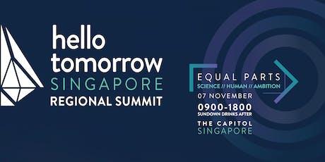 Hello Tomorrow Singapore Regional Summit 2019 tickets