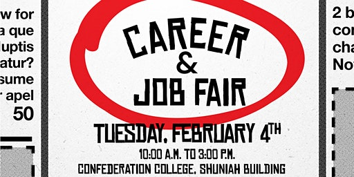 Confederation College Career & Job Fair 2020