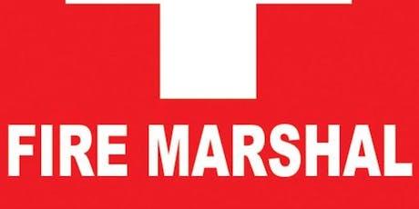 Fire Marshall Training tickets