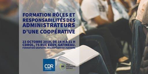 Droits et obligations des administrateurs d'une coopérative