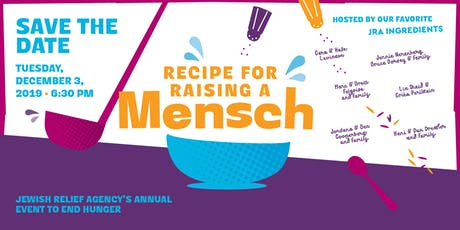 Recipe for Raising a Mensch: JRA's 2019 Annual Event to End Hunger tickets
