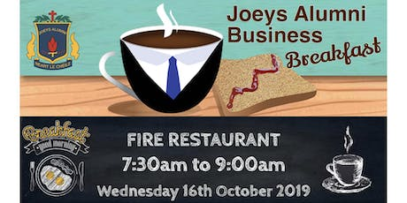 Joeys Alumni Business Breakfast tickets