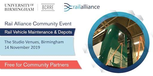 Rail Alliance Community event: Rail Vehicle Maintenance & Depots