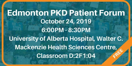 Edmonton PKD Patient Forum tickets