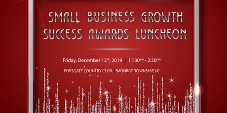 2019 Annual NJSBDC Small Business Growth Success Awards Luncheon tickets
