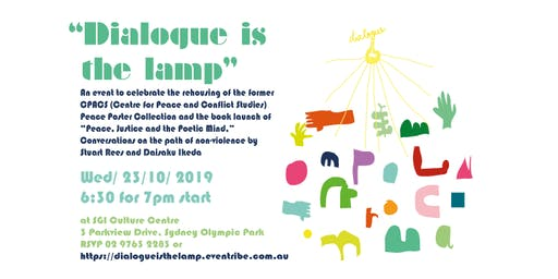 """Dialogue is the lamp""  -  Peace Poster Re-homing and Book Launch"