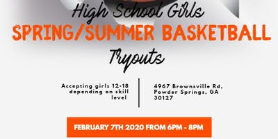 Girls Basketball Tryout for Spring/Summer Team