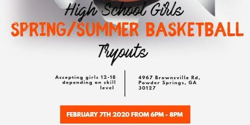 Girls Basketball Tryout for Spring/Summer Team