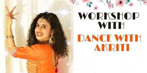 BOLLYWOOD DANCE WORKSHOP w/ Akriti Saini! (Montreal, CA)