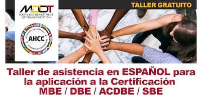 Departamento de Transporte de Maryland MBE, DBE, SBE and ACDBE Seminario de Certificación