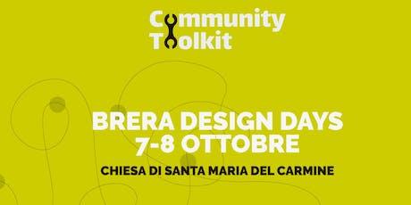 Community Toolkit. Disegnare una community: si può? biglietti