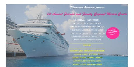 Friends and Family Cruise tickets