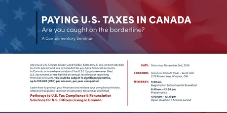 Paying U.S. Taxes in Canada tickets