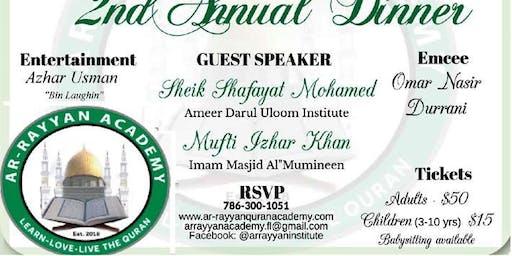 Ar-Rayyan  Quran Academy 2nd Annual Dinner