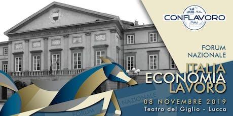 Italia Economia & Lavoro 2019 biglietti