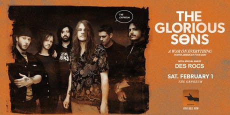 The Glorious Sons @ The Orpheum tickets