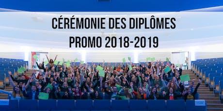 Cérémonie des diplômes 2019 - IHECS - EAM/PI/PUB billets
