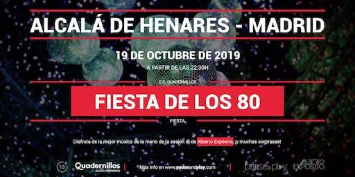 Fiesta de los 80 con Alberto Expósito