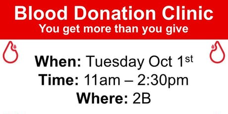 BLOOD DONATION CLINIC tickets