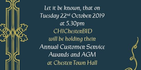 CH1ChesterBID 'BIDieval' Customer Service Awards and AGM 2019 tickets