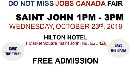 Saint John Job Fair - October 23rd, 2019 tickets