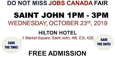 Saint John Job Fair - October 23rd, 2019 tickets