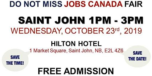 Saint John Job Fair - October 23rd, 2019