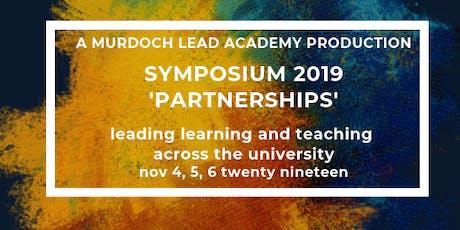 Murdoch LEAD Academy Symposium 2019 'Partnerships' Full Day 1 tickets
