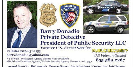 Private Investigator | Maryland | Former U.S. Secret Service tickets
