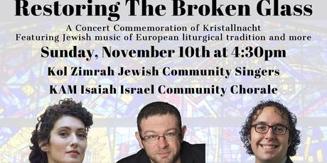 """Restoring the Broken Glass"": A Commemoration of Kristallnacht tickets"