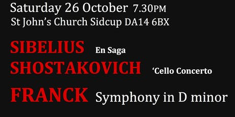 Sidcup Symphony Orchestra October Concert tickets