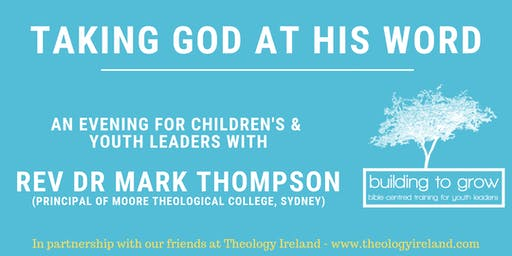 Building to Grow - An Evening with Rev Dr Mark Thompson