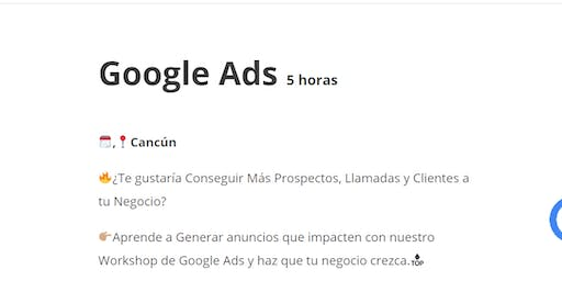 Workshop Google Ads