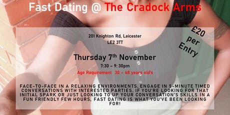Fast Dating - Speed Dating With Sophia  30 - 48 year old Leicester tickets