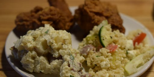 Fried Chicken and bottle of Bubbly (or Cab Sauv, Chardonnay, or delicious Rose)