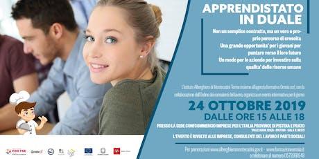 Apprendistato in Duale: seminario informativo per le aziende biglietti