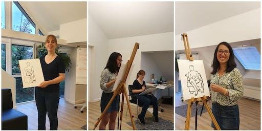 Aktmalerei Workshop – die Schönheit des Körpers künstlerisch entdecken