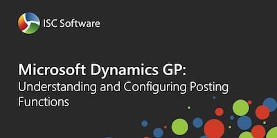Dynamics GP Training: Understand & Configure Posting Functions  - Nov 2019