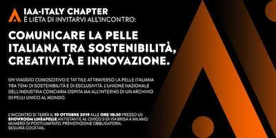 Comunicare la pelle italiana tra sostenibilità, creatività ed innovazione.