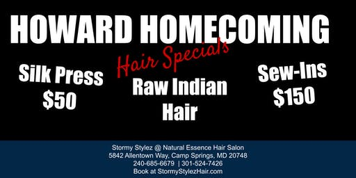 Howard Homecoming Hair Specials - Silk Press and Sew-In Weaves