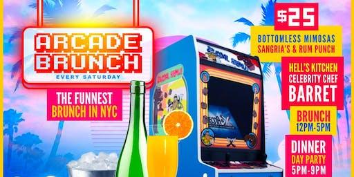 ARCADE BRUNCH W/ Celebrity Chef + 50+ Arcade Games
