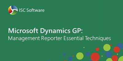 Dynamics GP Training : Management Reporter Essential Techniques Nov 2019