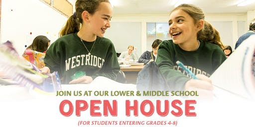Westridge Open House for Grades 4-8